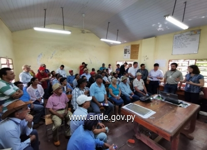 ANDE presented at the Public Consultation, a 500 kV Transmission Line construction project