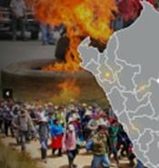 秘鲁新的社会冲突达到10个月来的最高水平