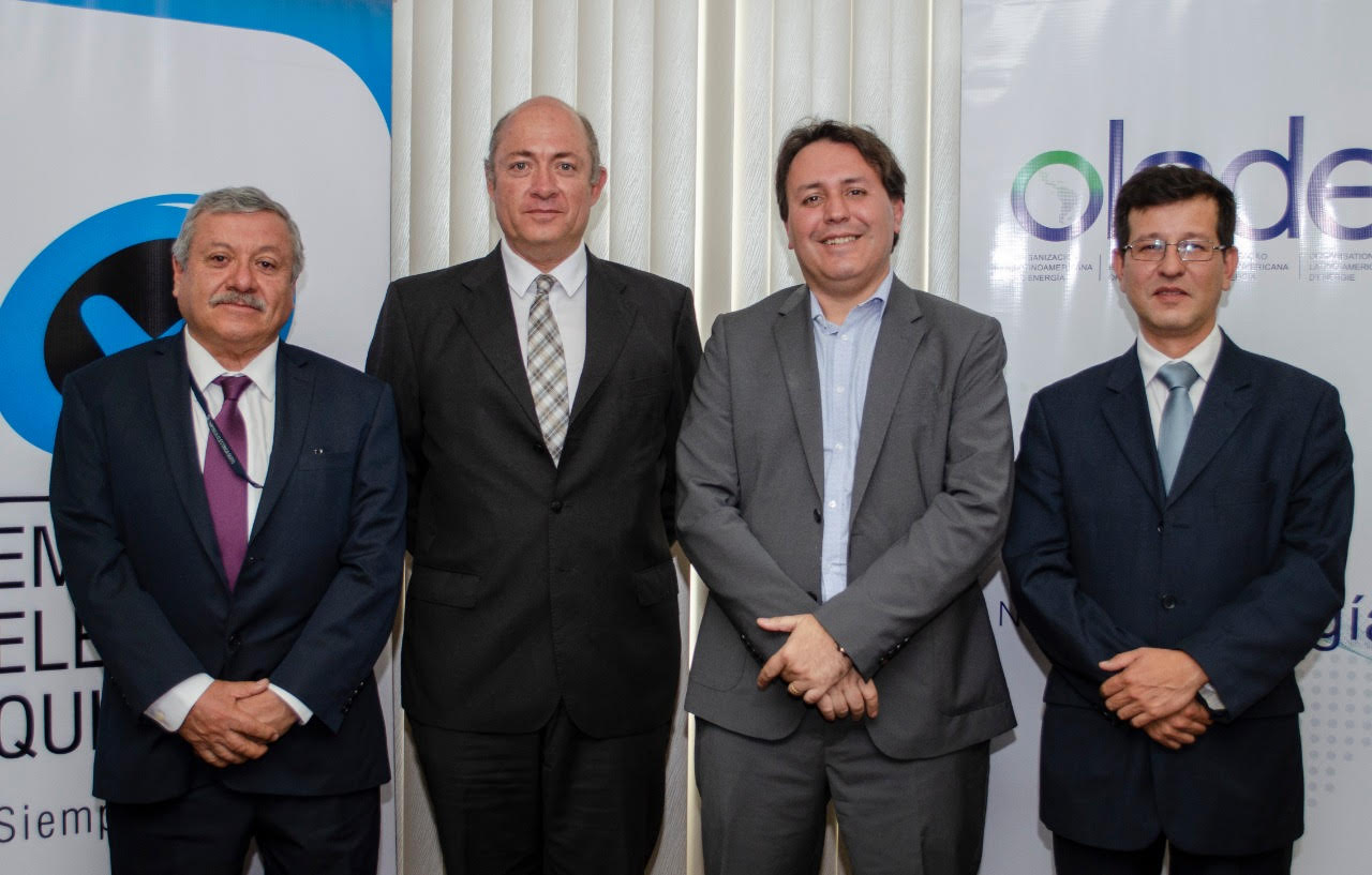 Olade, UTE y EEQ firman convenio de cooperación interinstitucional