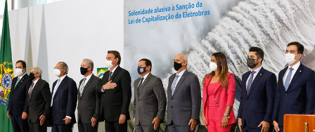 What does Brazil's govt expect from the Eletrobras privatization?