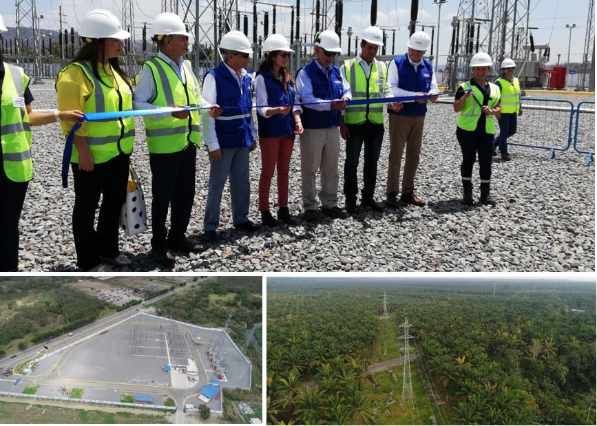 Transmission System Esmeraldas - Santo Domingo guarantees the supply of electricity
