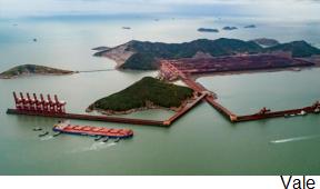 Brasileña Vale fortalece presencia portuaria en China