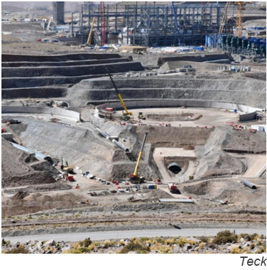 Teck's QB2 copper-moly project in Chile almost 60% ready