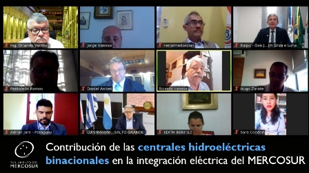 Debate on the contribution of binational hydroelectric plants in the electrical integration of MERCOSUR