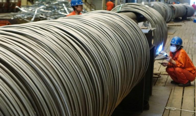 Compras de acero chino anotan caída