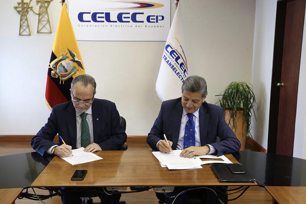 Celec and Cenace sign agreement to strengthen the Ecuadorian power sector