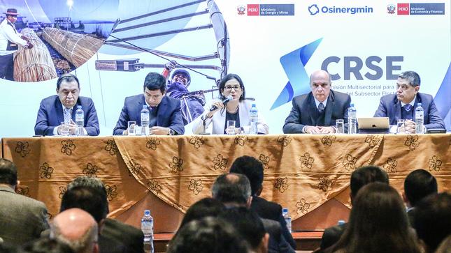 Minem presenta esquema de trabajo de la Comisión Multisectorial para la Reforma del Subsector Electricidad
