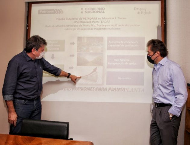 Petropar presentó al MIC los proyectos para el 2021