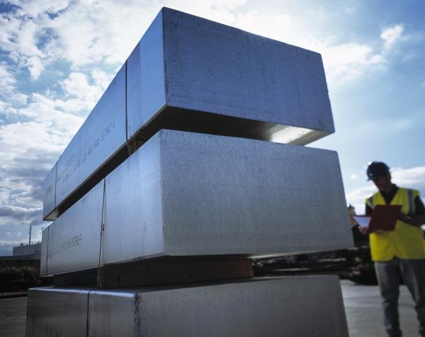 South American aluminum output edges down