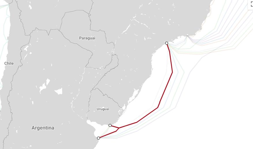 Cable submarino entre Brasil, Uruguay y Argentina entra en servicio