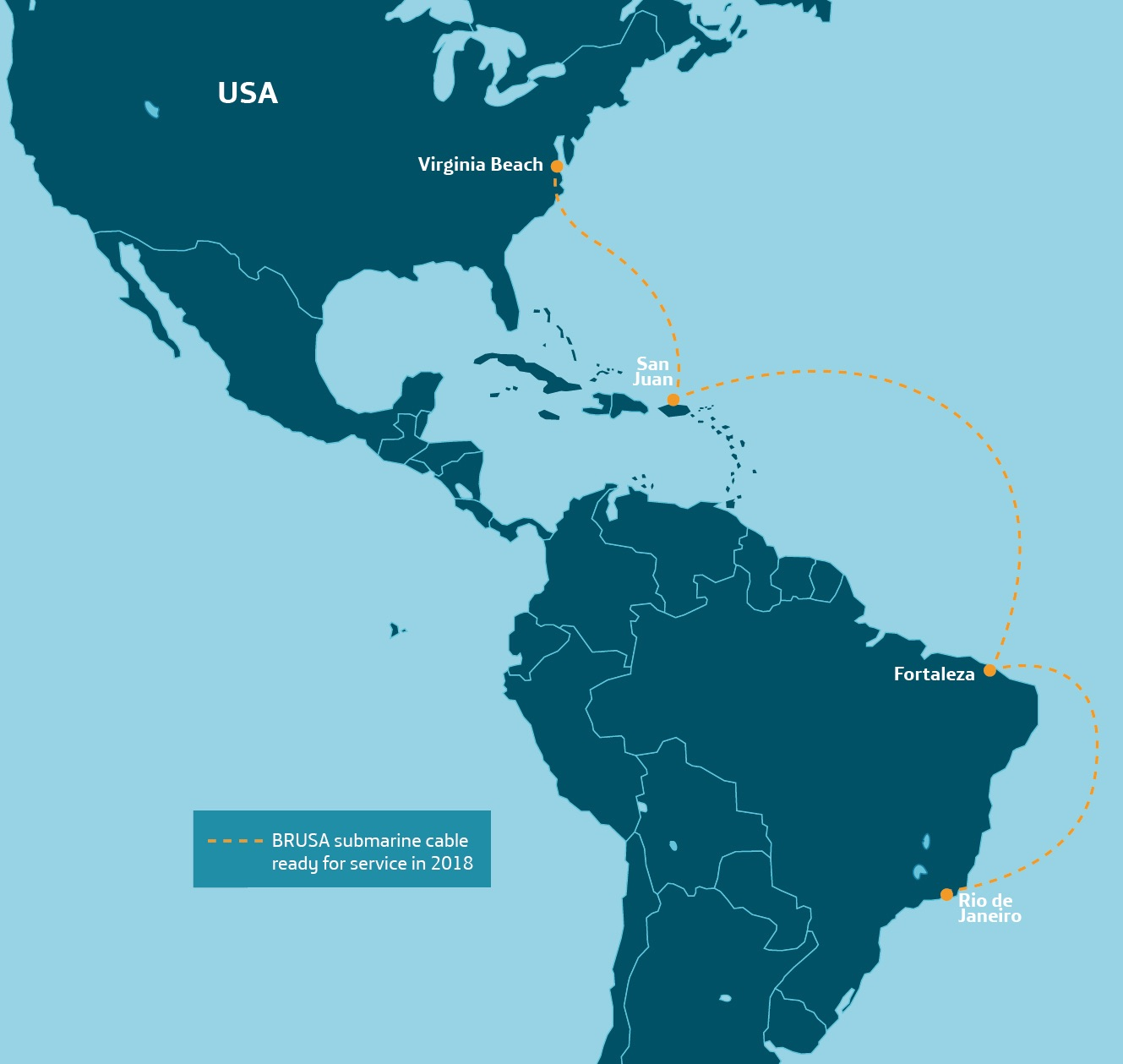 Telxius' Brazil-US cable reaches 160Tb/s with Ciena's WaveLogic 5