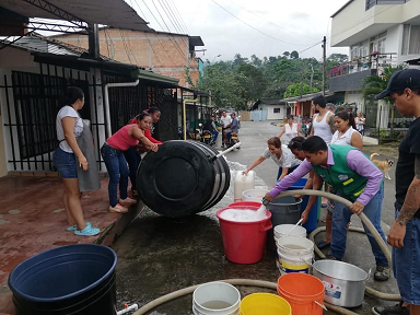 Water cut in Colombian city remains in place
