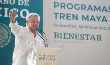 AMLO details Yucatán, Quintana Roo Maya train investment