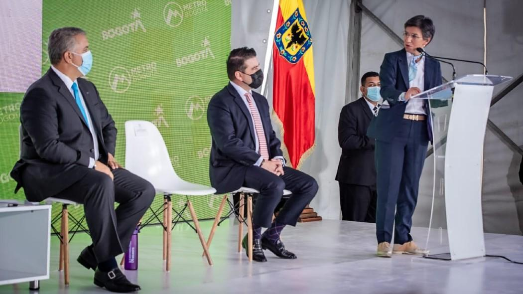 Duque compromete financiamiento a 2da Línea de Metro de Bogotá