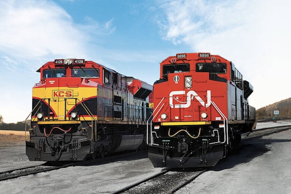 """Kansas City Southern recibe una propuesta revisada de Canadian Pacific que la junta directiva determina que es una """"propuesta superior de la empresa"""""""