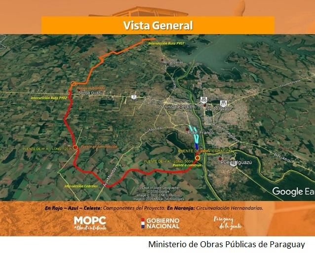 Paraguay aprueba préstamo de US$212mn de CAF para proyecto fronterizo