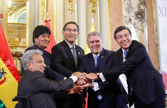 Declaración Presidencial de Lima: 50 Años de la Comunidad Andina