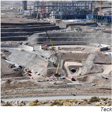 Teck divulga novedades sobre proyecto chileno de cobre y molibdeno QB2