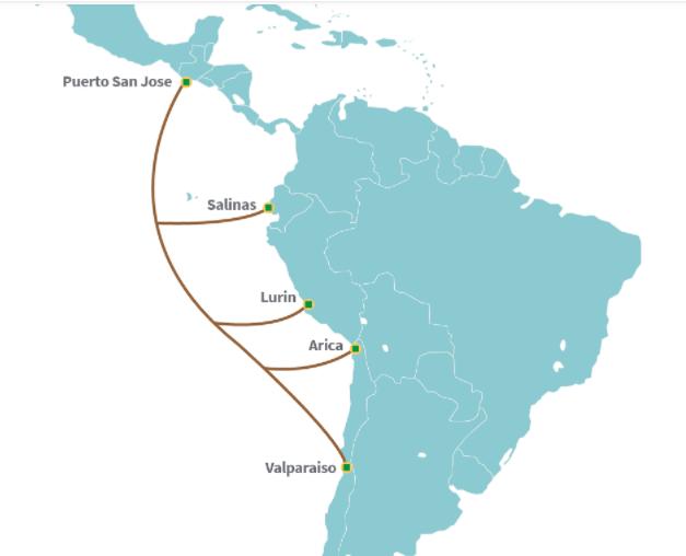 Cable submarino de fibra de América Móvil y Telxius aterriza en Chile