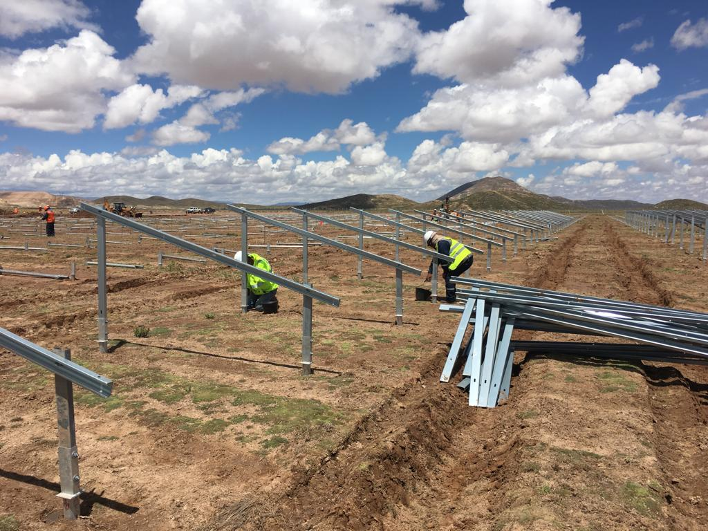 ENDE Guaracachi notes the progress of 70% of the Oruro Solar Plant