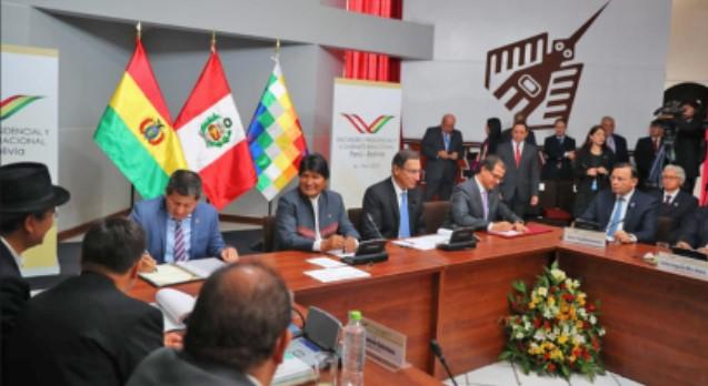 Perú y Bolivia firman tres convenios de cooperación para avanzar en integración energética
