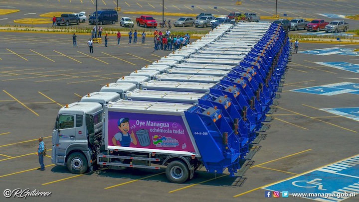 Managua unveils waste collection fleet