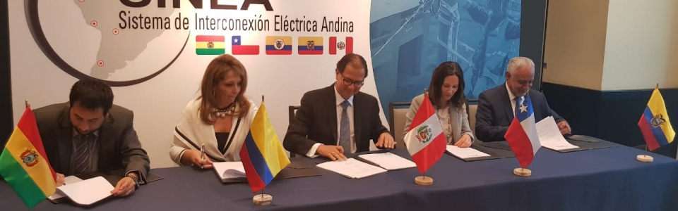 Minister of Energy participated in the Ministerial Meeting of the Andean Electrical Interconnection System (SINEA)