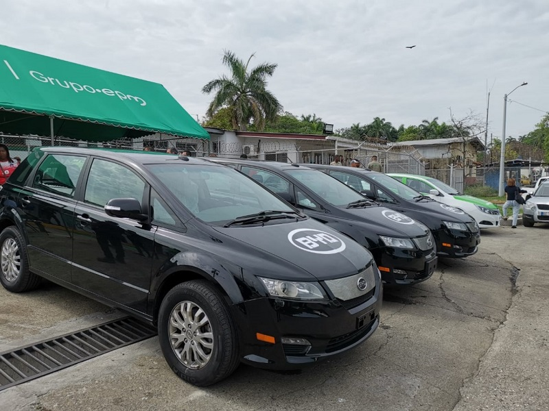 BYD launches the First Pure Electric Taxi Fleet in Panama and Central America
