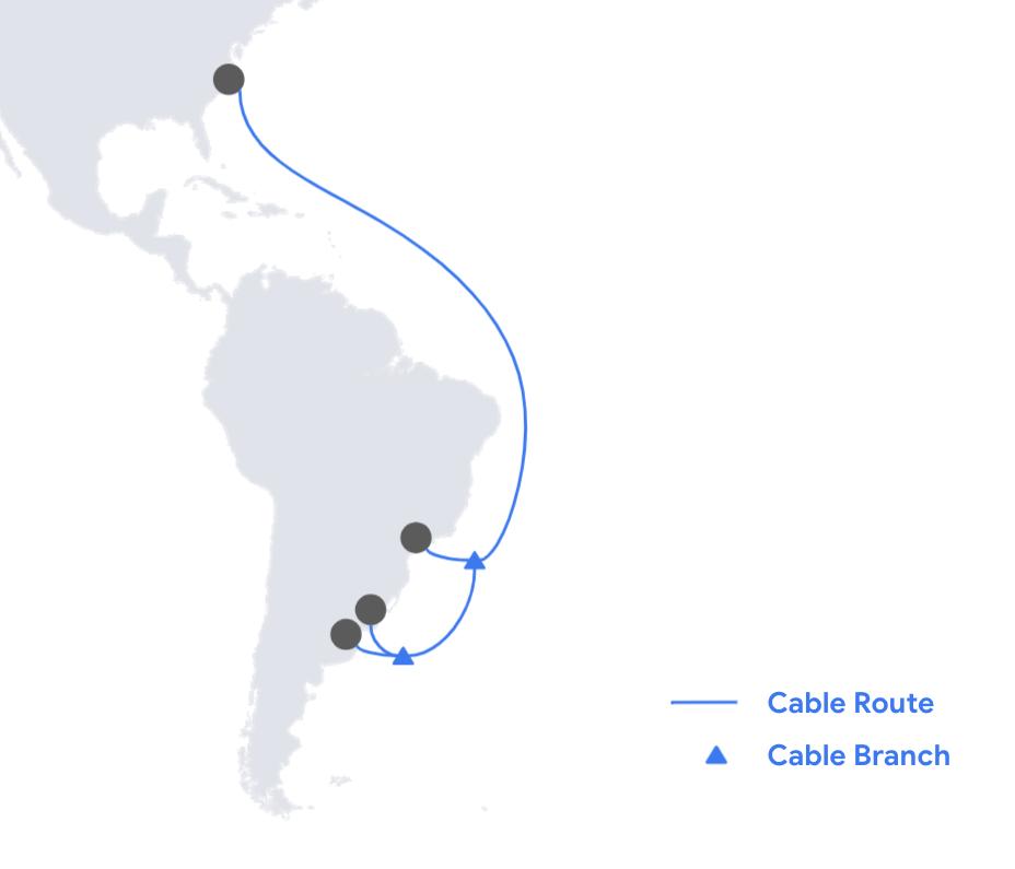 Google construirá otro cable entre EE.UU. y Sudamérica