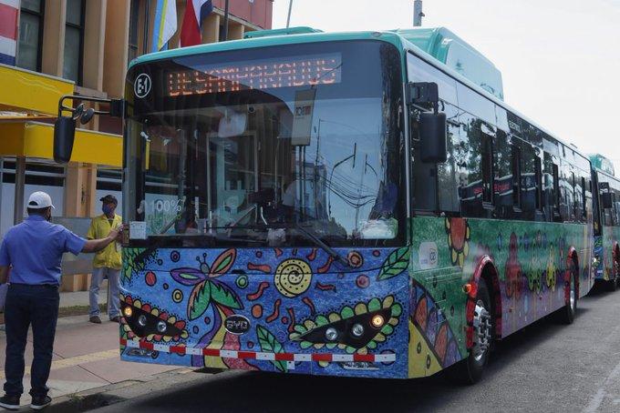 Costo diario de buses eléctricos en Costa Rica es cinco veces menor a los de diesel, según primeros resultados de plan piloto