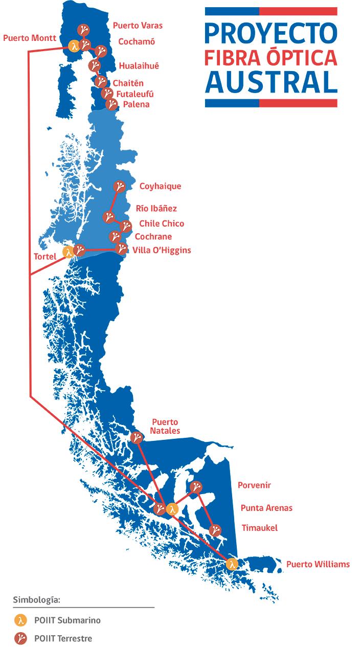 Chile adjudica contrato de fibra óptica