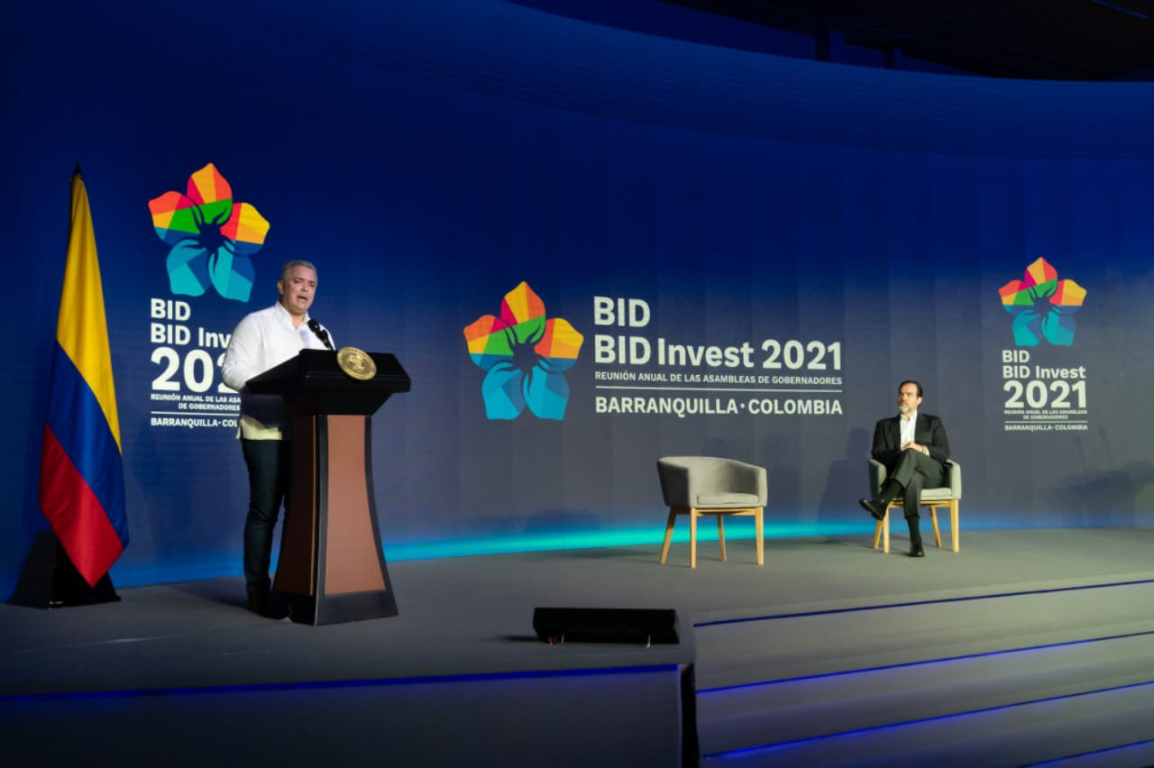 BID aprobará operaciones por US$1,250mn para Colombia en 2021