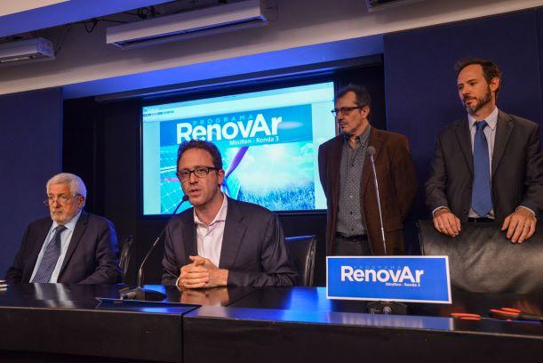 Ronda 3 de RenovAr recibe 56 ofertas por un total de US$520mn
