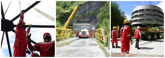 Entry of equipment to the powerhouse of the Ituango hydroelectric project began