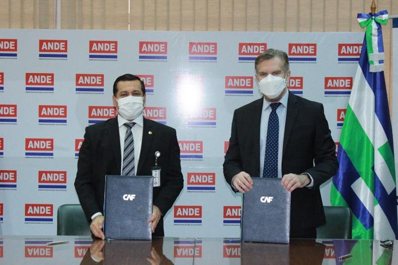 ANDE y CAF firman convenio de cooperación en materia de ciberseguridad