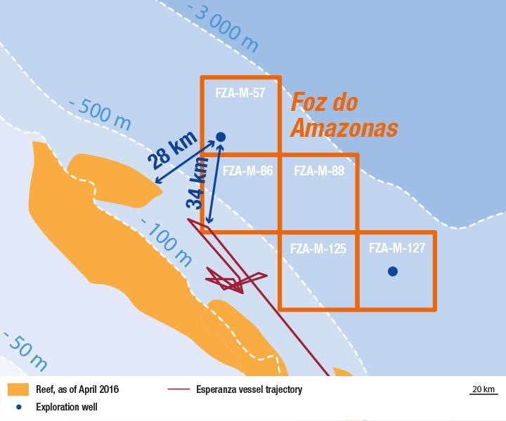 Regulador brasileño extiende plazos de exploración en cuenca Foz do Amazonas