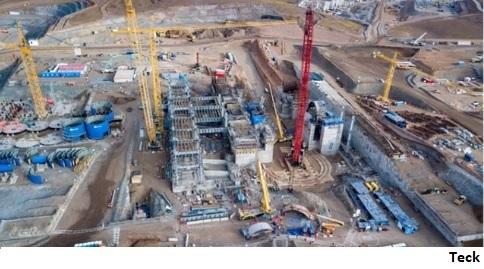 Teck reinicia construcción de proyecto de cobre QB2 en Chile