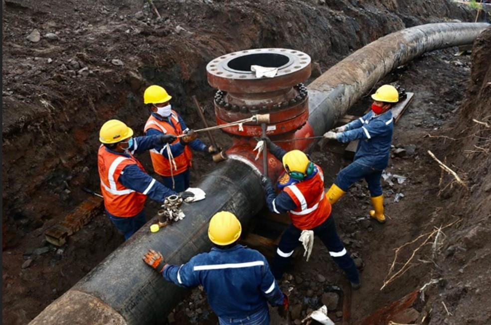 EP Petroecuador ejecuta trabajos para precautelar la integridad de la tubería del SOTE