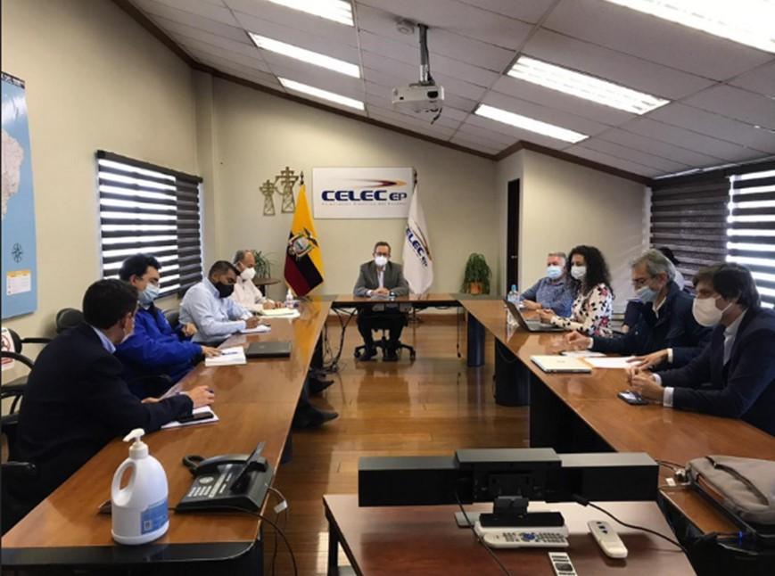 CELEC EP y Solarpackteam coordinan los temas de interconexión entre la futura central fotovoltaica El Aromo y la subestación San Juan de Manta