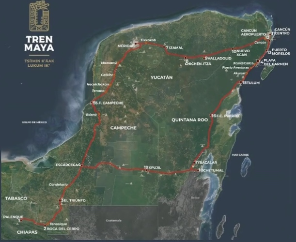 Mexico to pay debt for Maya train stretch