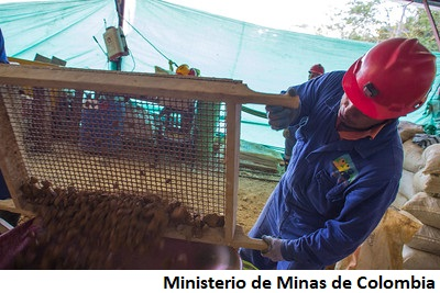 Colombia lanza línea de crédito minero