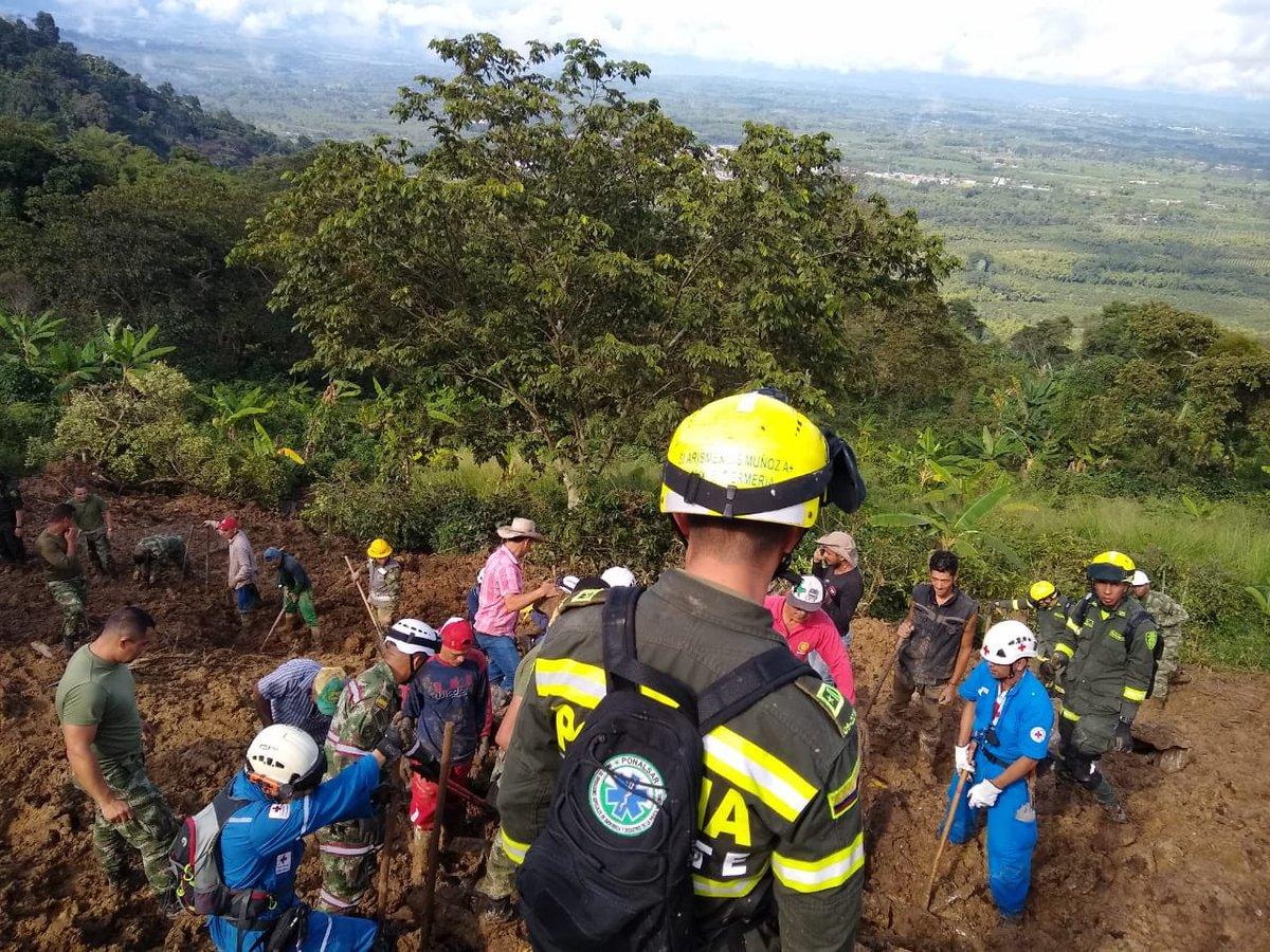 Deslizamiento de tierra mortal en departamento colombiano de Quindío