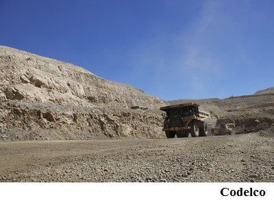 Codelco reports output and profit drop, rise in debt