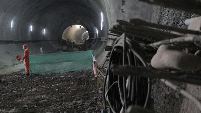 Extension of Line 2 of the Santiago Metro reaches 54% progress