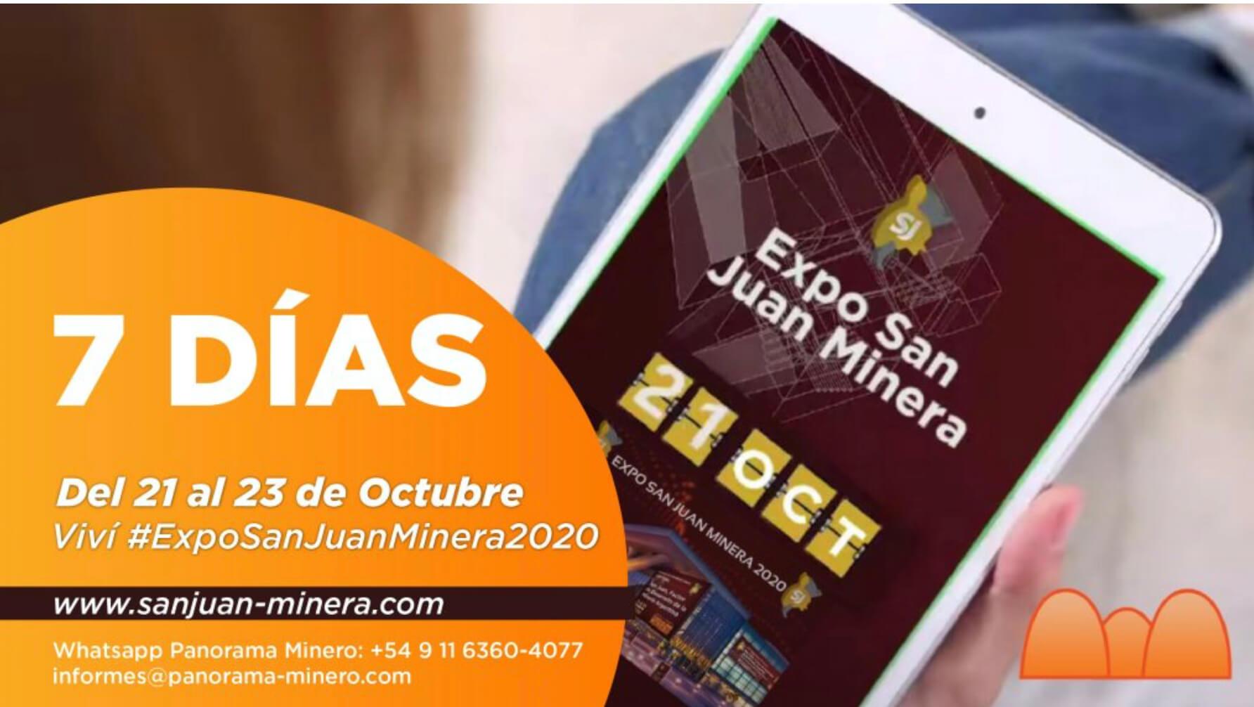 Expo San Juan Minera 2020 starts on October 21st