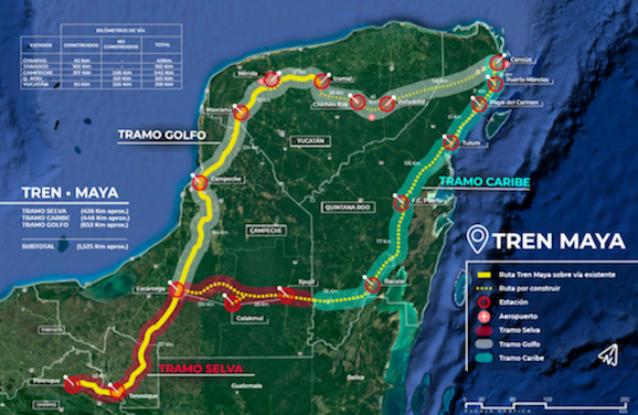 AMLO briefed on Maya train tenders